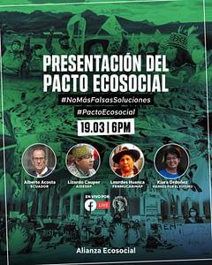 Afiche del Pácto Ético Ecosocial