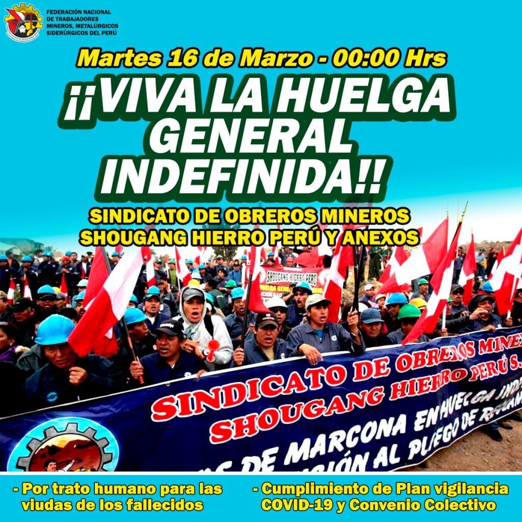 Afiche Huelga General Indefinida
