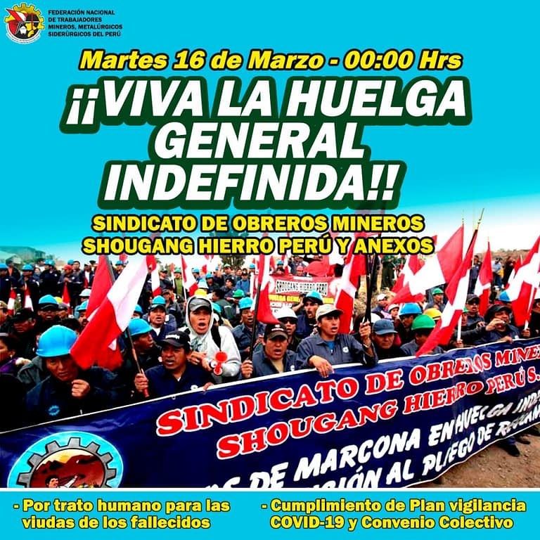 Afiche Huelga General Indefinida