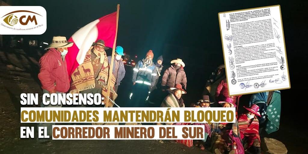 Corredor minero del sur: comunidades de Chumbivilcas continuarán con protesta indefinida