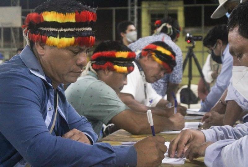 Lote 192: Comunidades indígenas firmaron acta de consulta previa