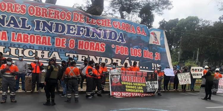 Obreros mineros de Pasco siguen demandando reposición laboral