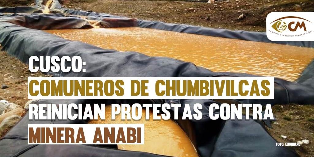 Cusco: Comuneros de Chumbivilcas reinician protestas contra minera ANABI