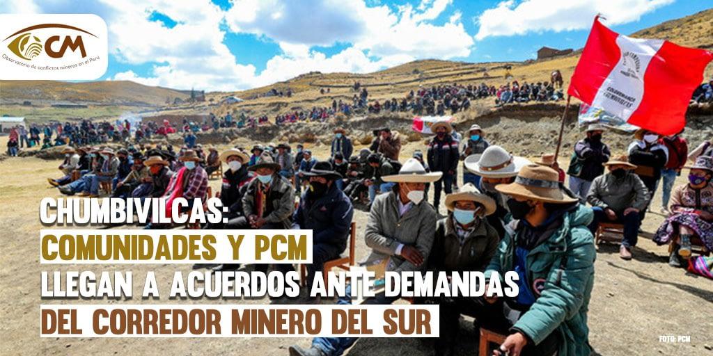 Chumbivilcas: Comunidades y PCM llegan a acuerdos ante demandas del Corredor minero del sur