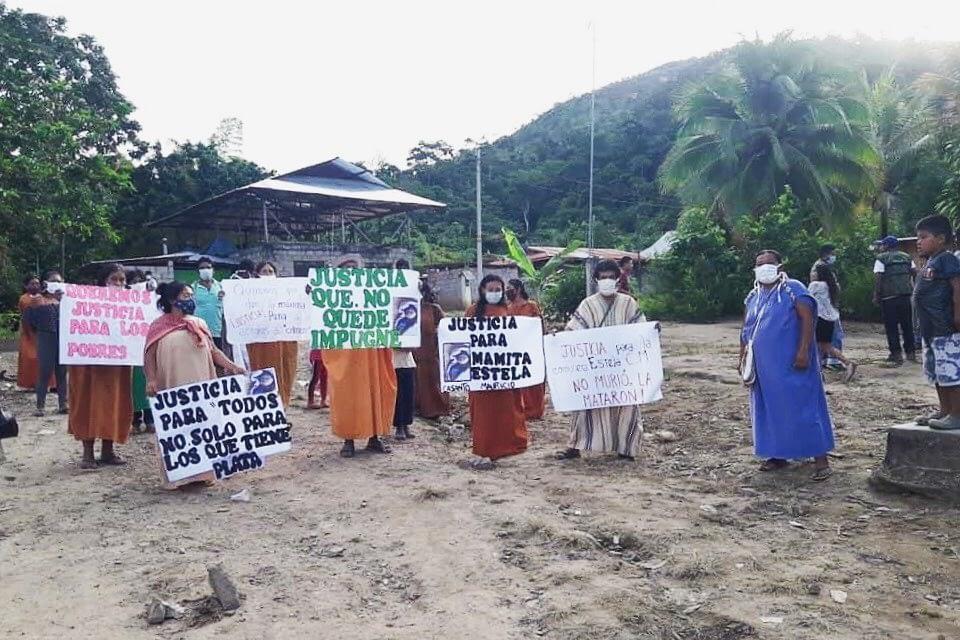 Comunidad Shankivironi y organizaciones indígenas piden justicia. Foto: ONAMIAP