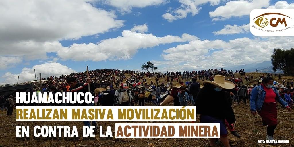 La Libertad: campesinos realizan masiva movilización en contra de la actividad minera en Huamachuco